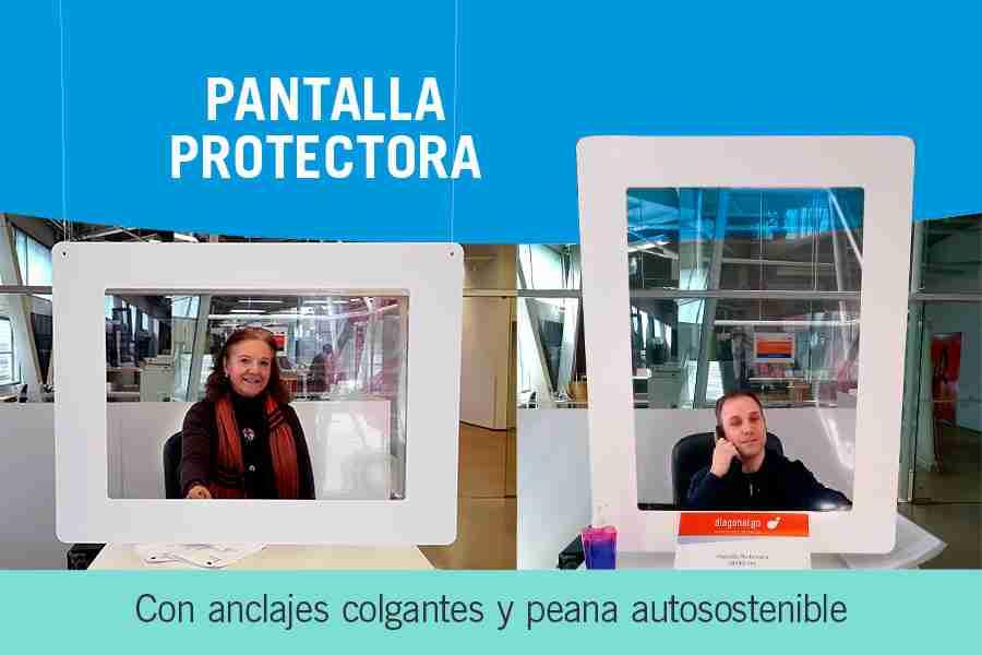 pantalla protectora de contagios